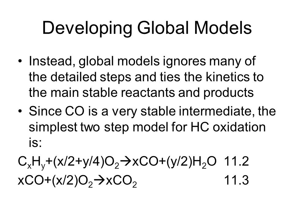 Developing Global Models