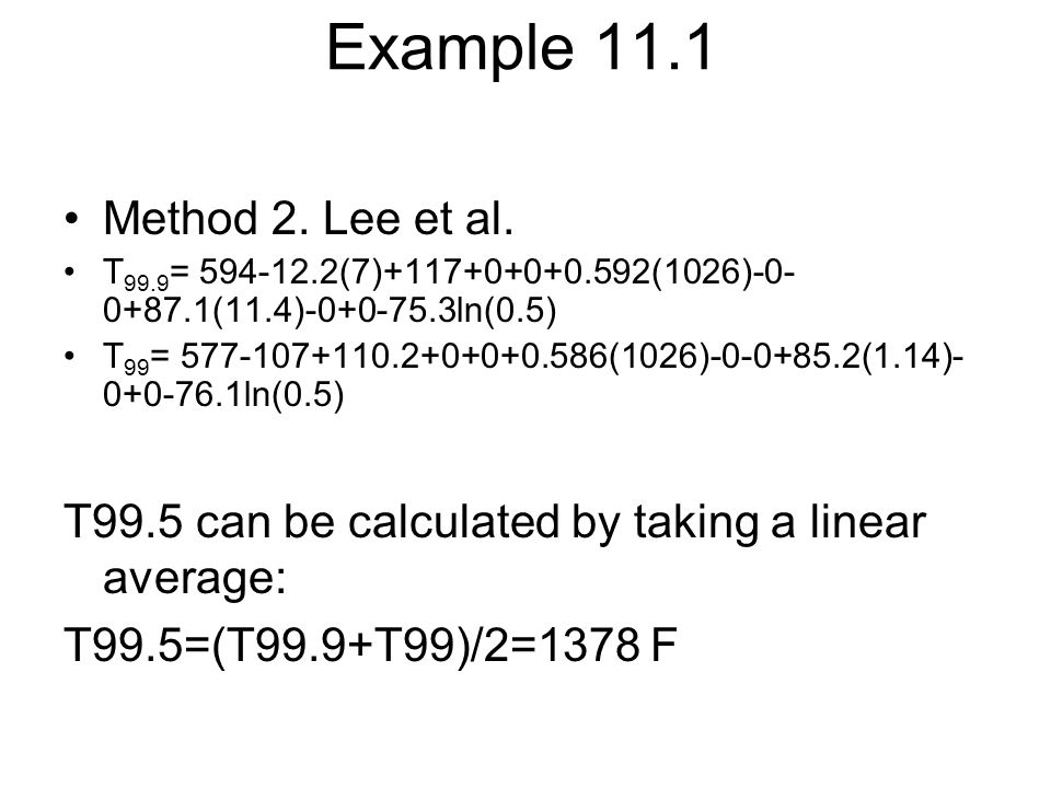 Example 11.1 Method 2. Lee et al.