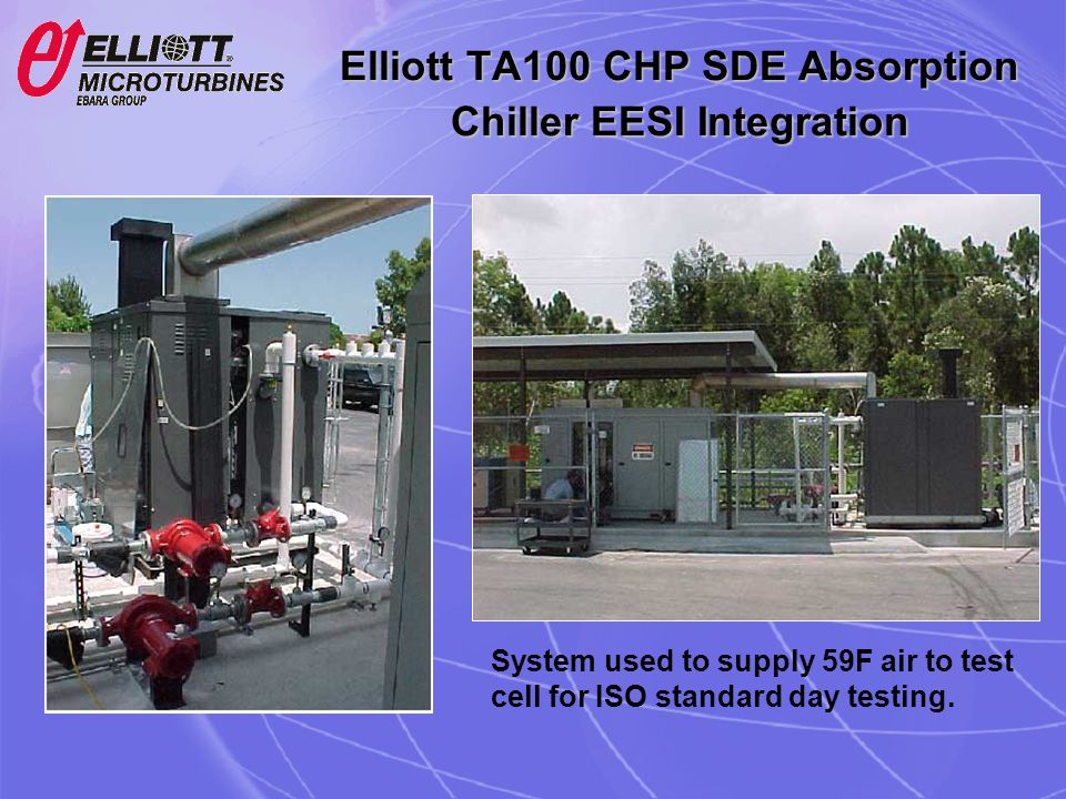 Elliott TA100 CHP SDE Absorption Chiller EESI Integration