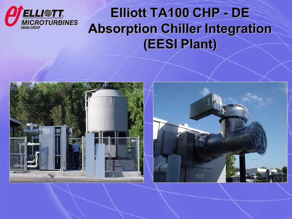 Elliott TA100 CHP - DE Absorption Chiller Integration (EESI Plant)