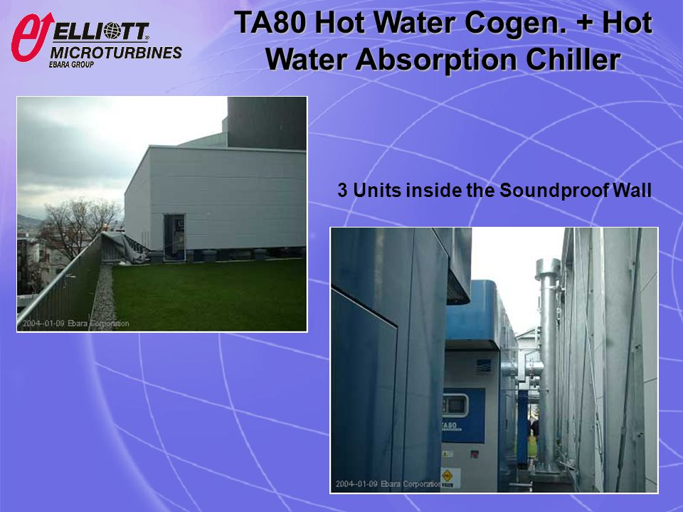 TA80 Hot Water Cogen. + Hot Water Absorption Chiller