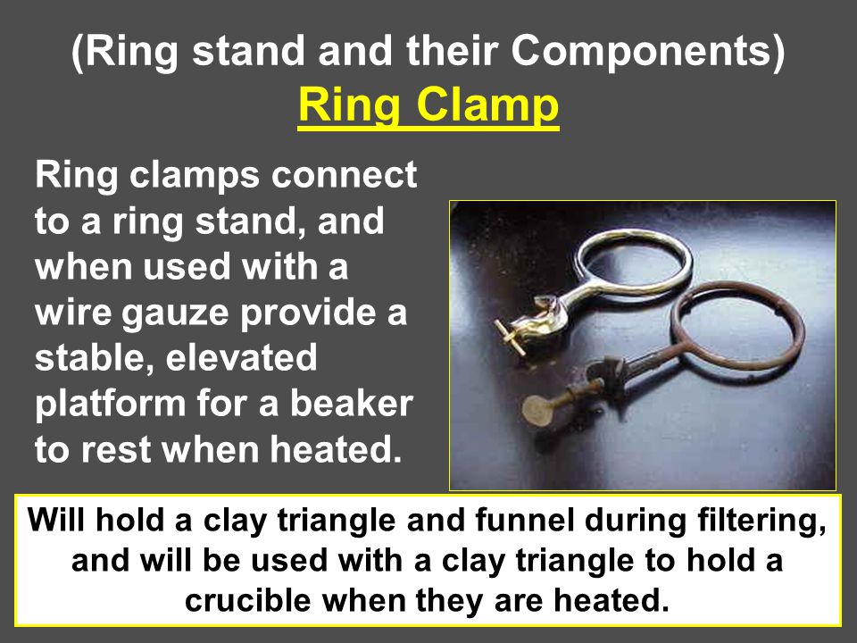 (Ring stand and their Components) Ring Clamp