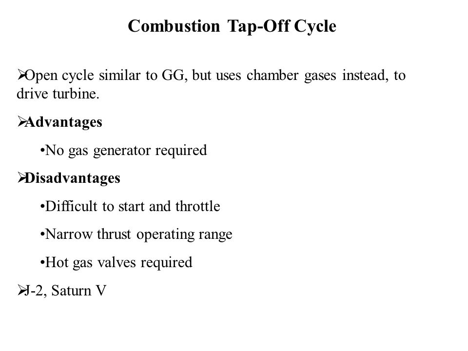 Combustion Tap-Off Cycle
