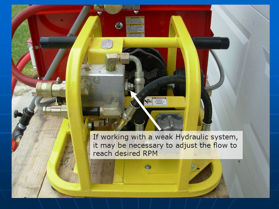 If working with a weak Hydraulic system,