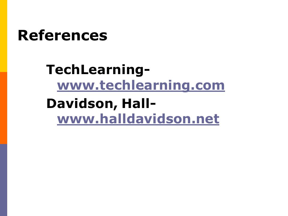 References TechLearning- www.techlearning.com