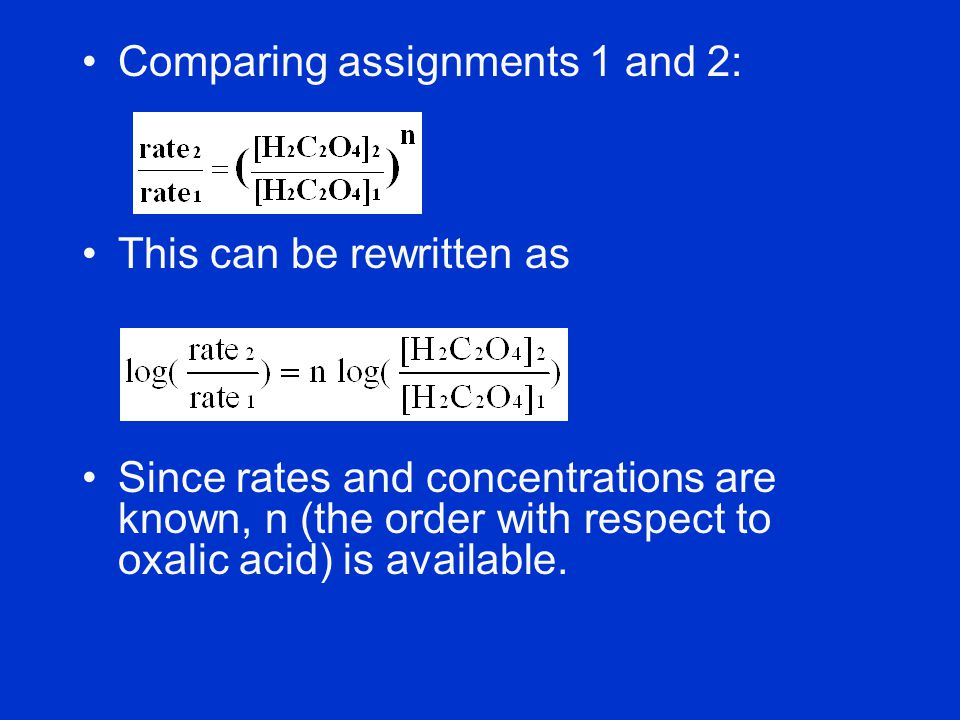 Comparing assignments 1 and 2: