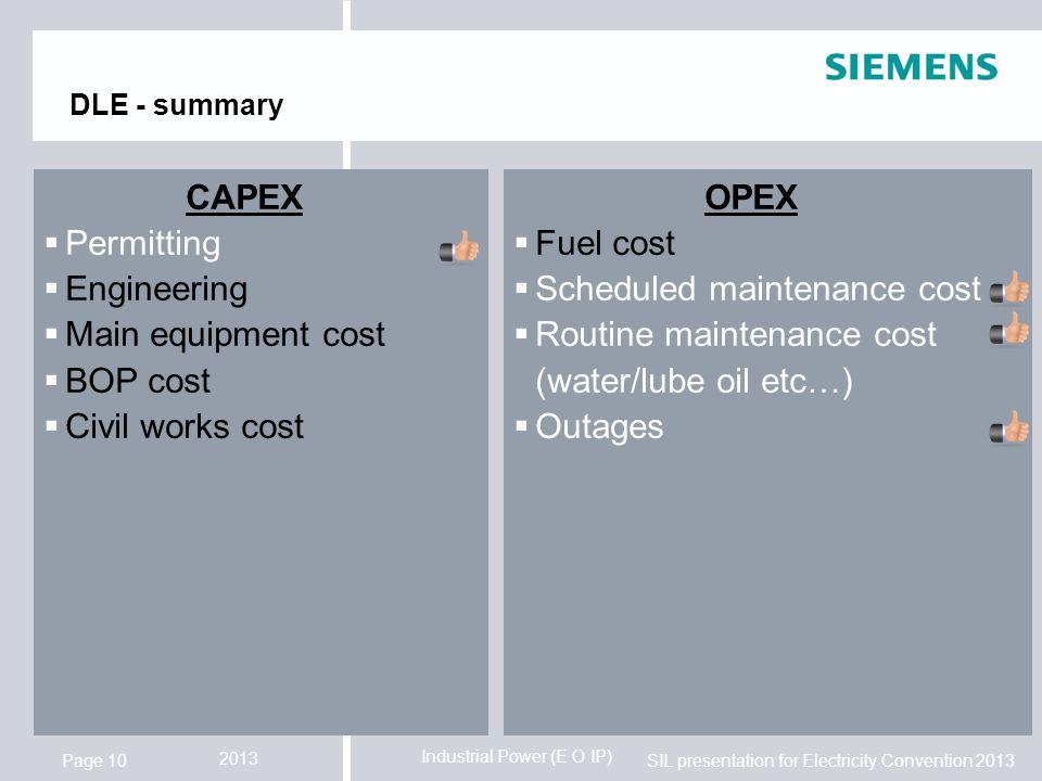 Scheduled maintenance cost