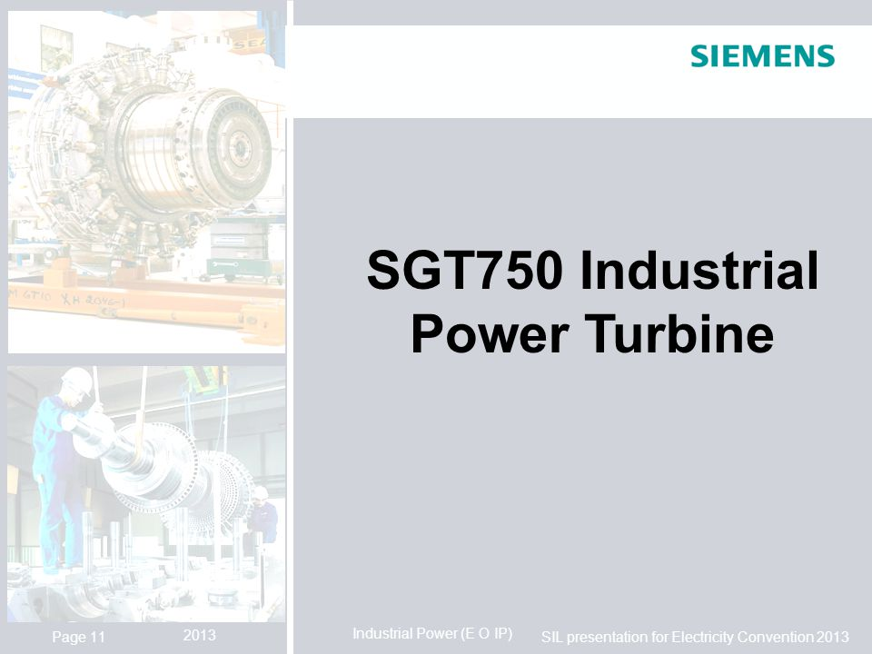 SGT750 Industrial Power Turbine