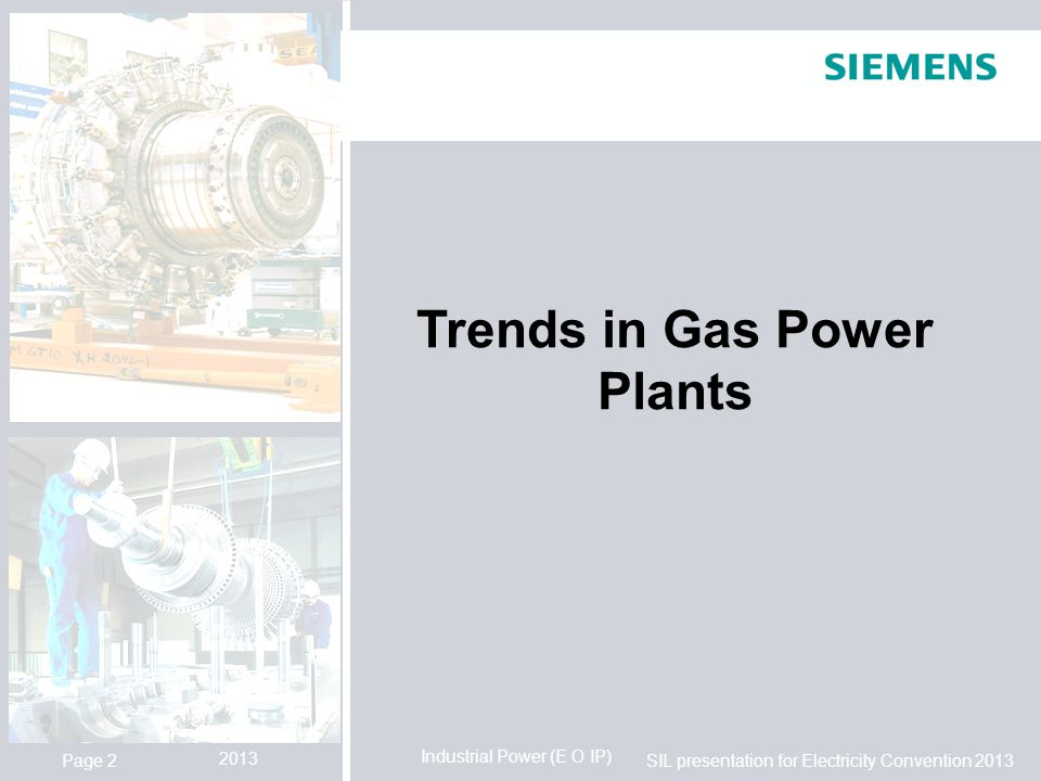 Trends in Gas Power Plants