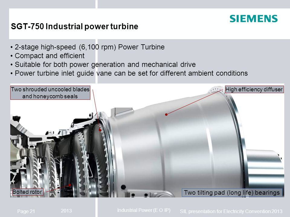 SGT-750 Industrial power turbine