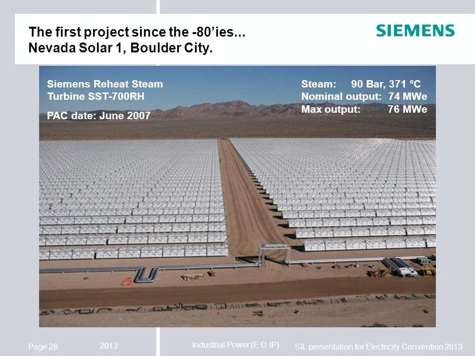 The first project since the -80'ies... Nevada Solar 1, Boulder City.