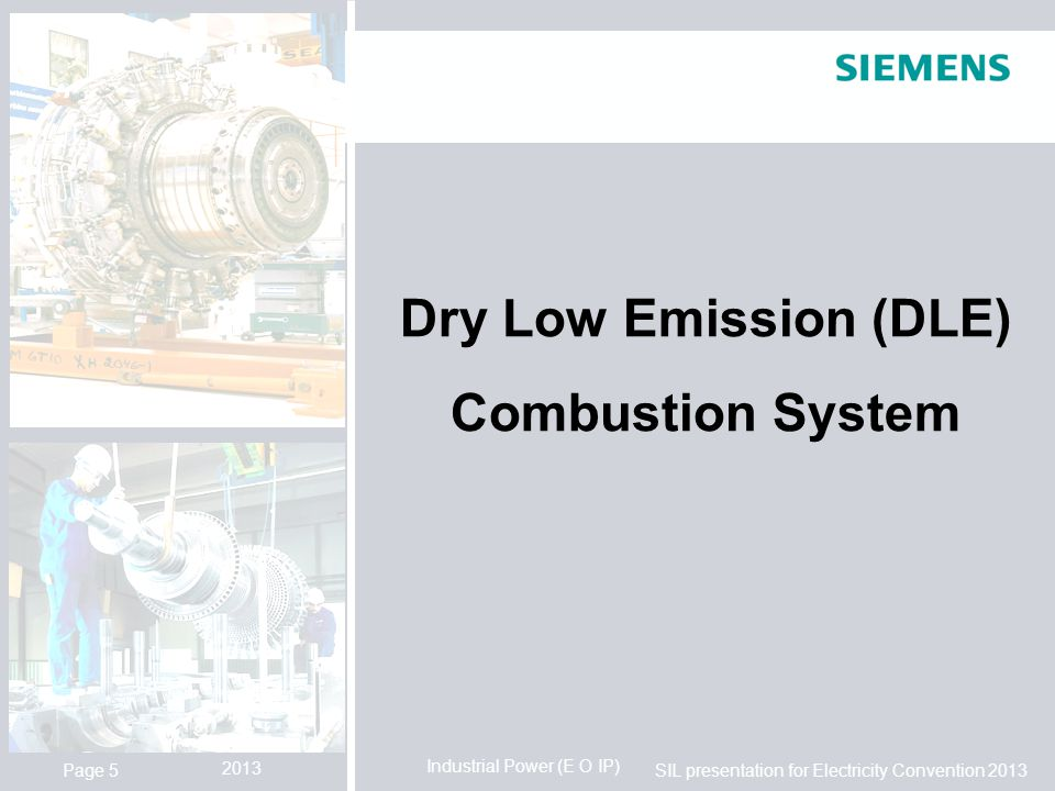 Dry Low Emission (DLE) Combustion System
