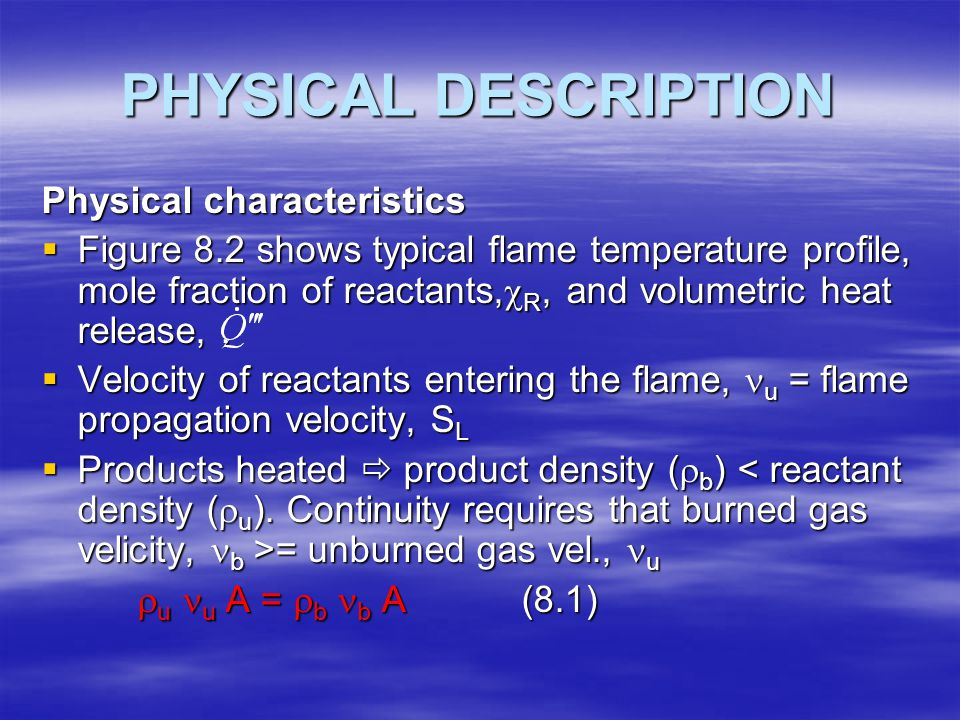 PHYSICAL DESCRIPTION Physical characteristics