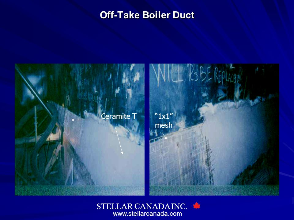 Off-Take Boiler Duct Ceramite T 1x1 mesh