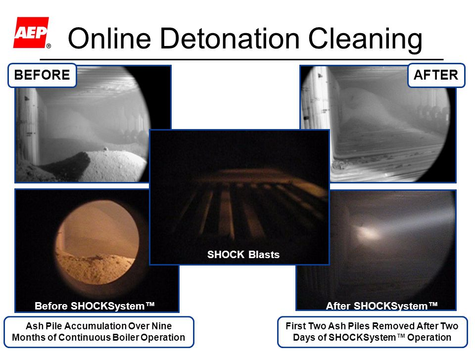 Online Detonation Cleaning