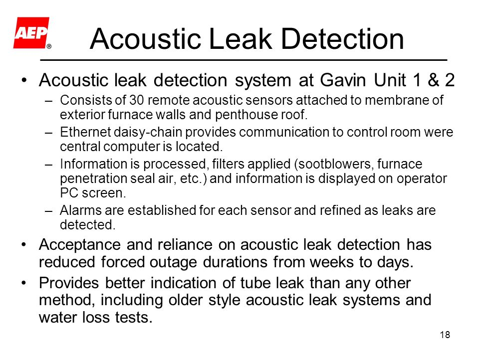 Acoustic Leak Detection