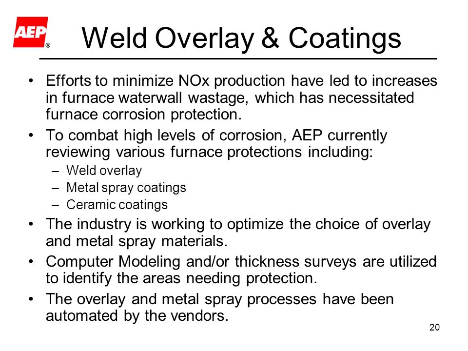Weld Overlay & Coatings