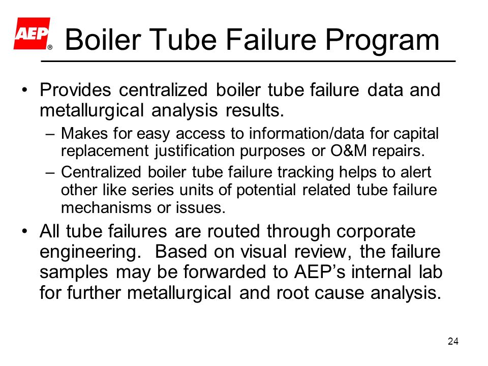 Boiler Tube Failure Program