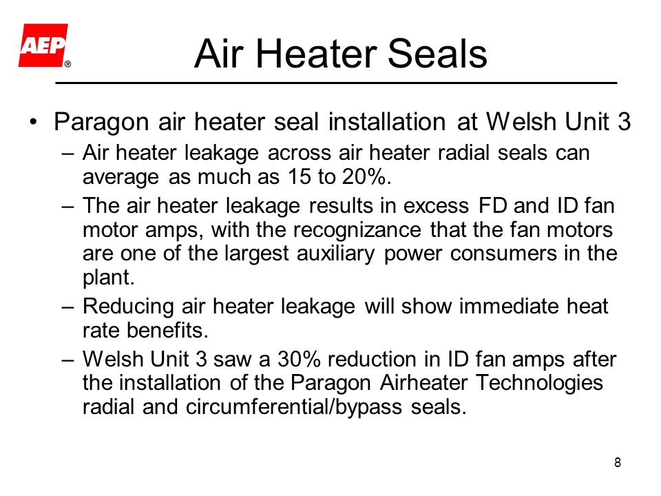 Air Heater Seals Paragon air heater seal installation at Welsh Unit 3