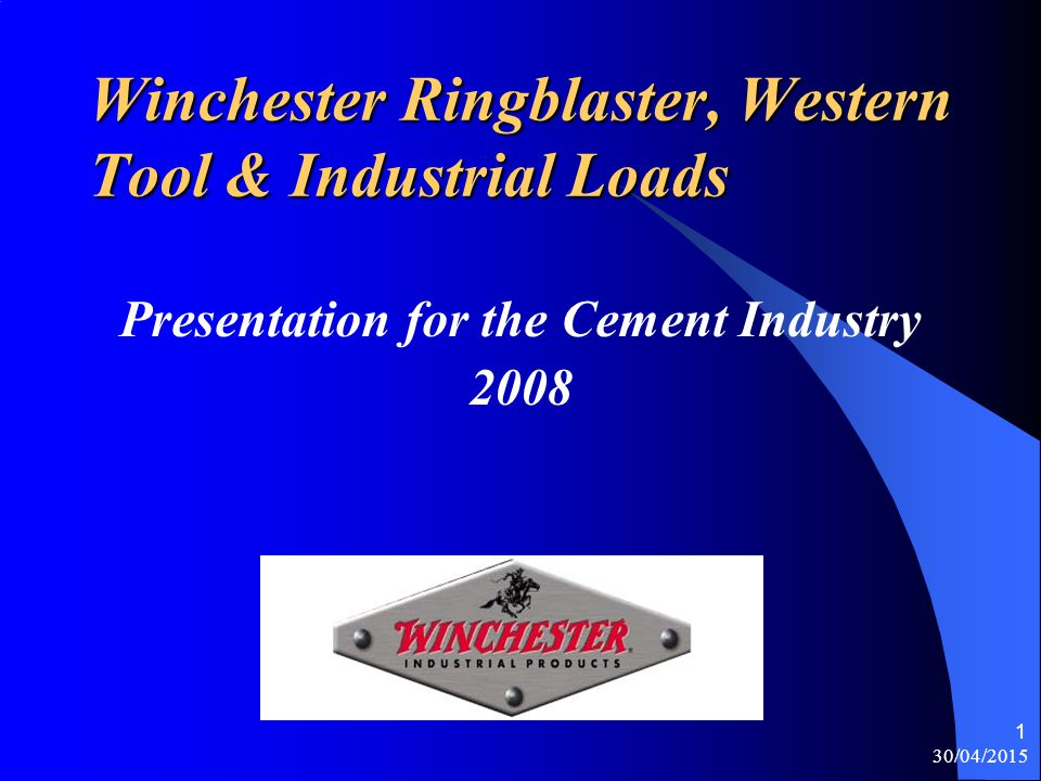 Winchester Ringblaster, Western Tool & Industrial Loads
