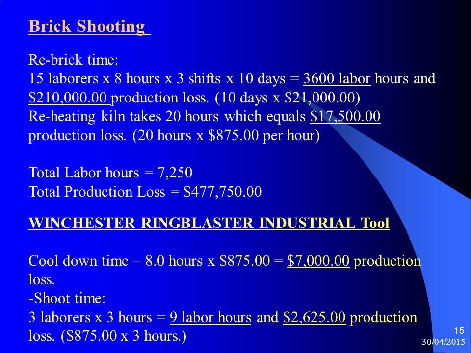 Brick Shooting Re-brick time: