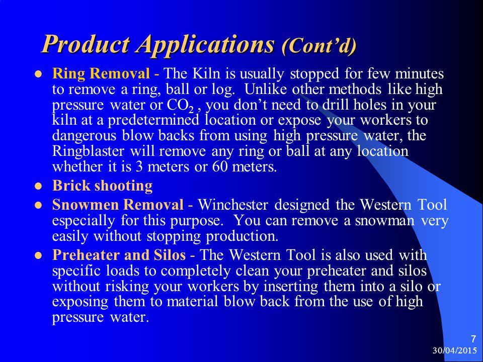 Product Applications (Cont'd)