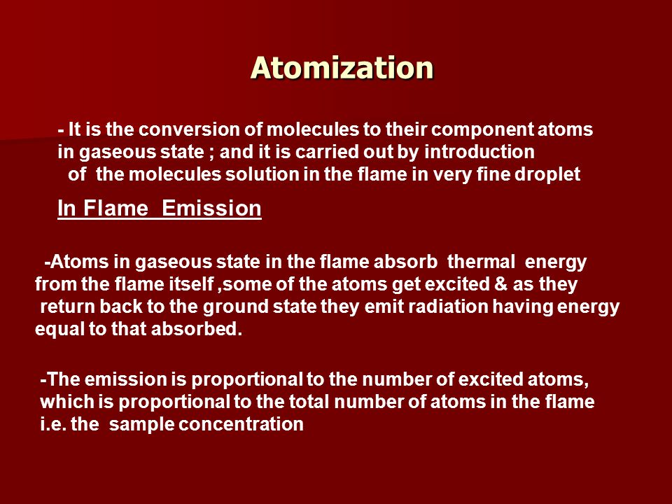 Atomization In Flame Emission