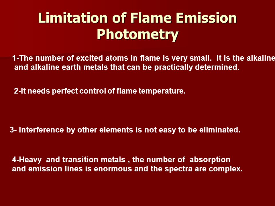 Limitation of Flame Emission Photometry