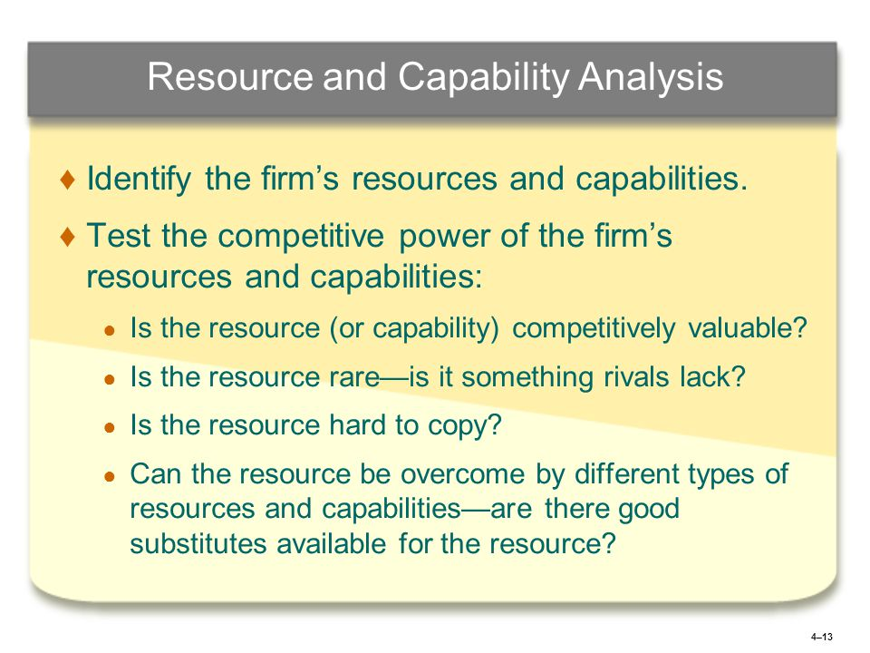 walmart resources and capabilities analysis Wal-mart stores inc swot analysis  resources and capabilities by applying appropriate  core competencies and capabilities walmart divested its businesses.