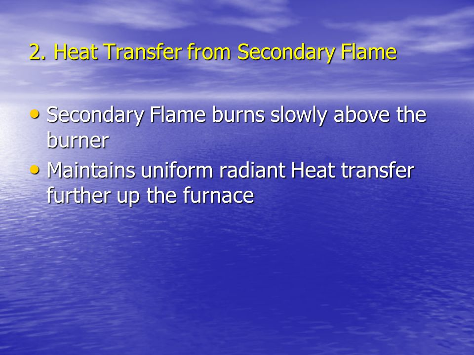 2. Heat Transfer from Secondary Flame
