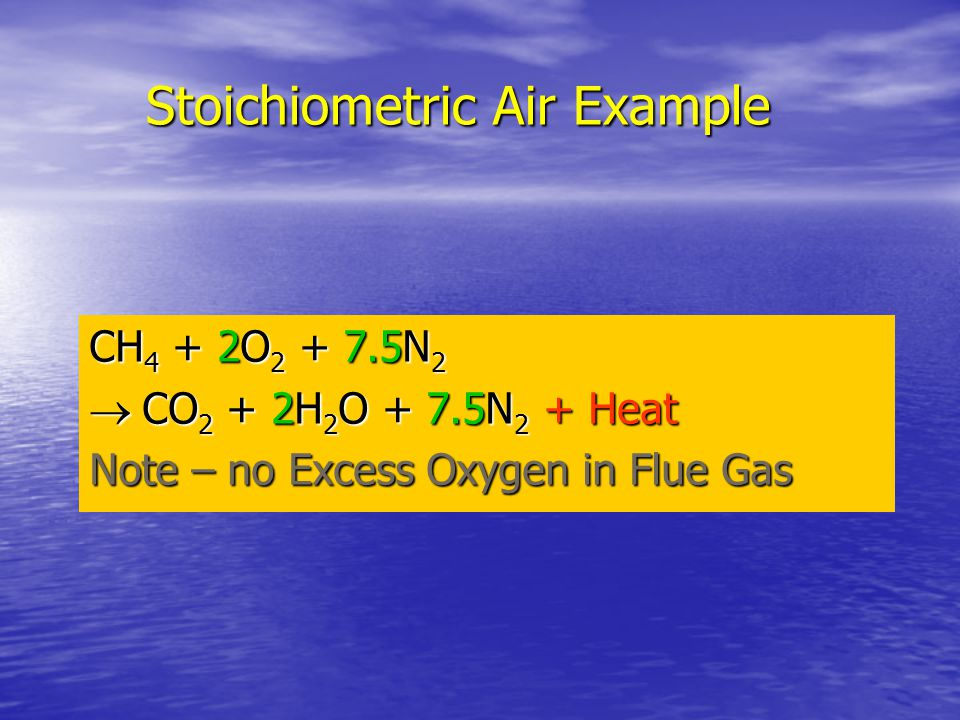 Stoichiometric Air Example
