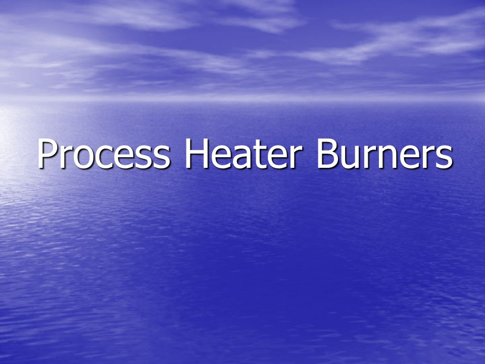 Process Heater Burners