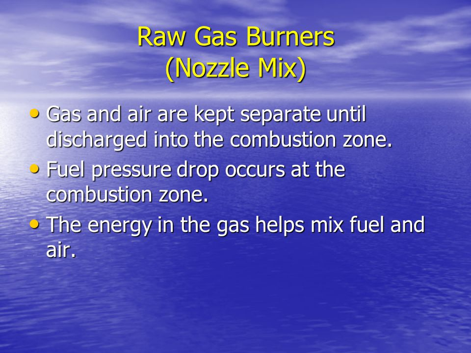 Raw Gas Burners (Nozzle Mix)
