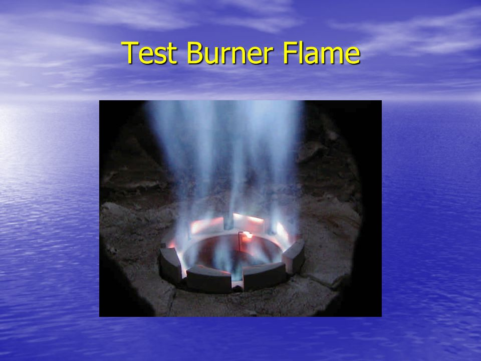 Test Burner Flame