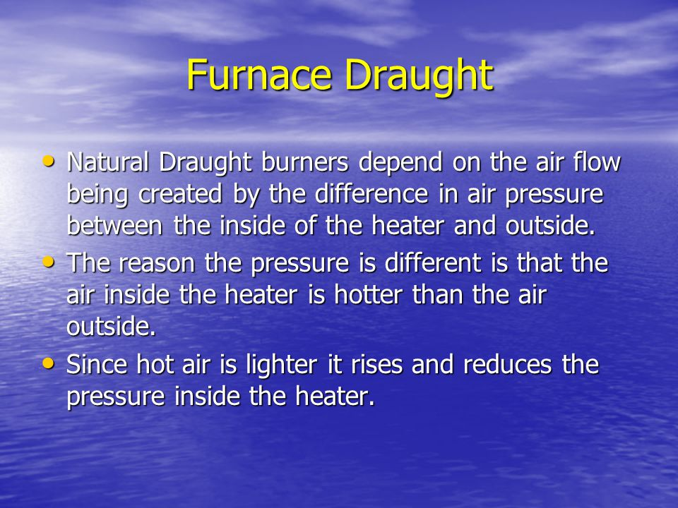Furnace Draught