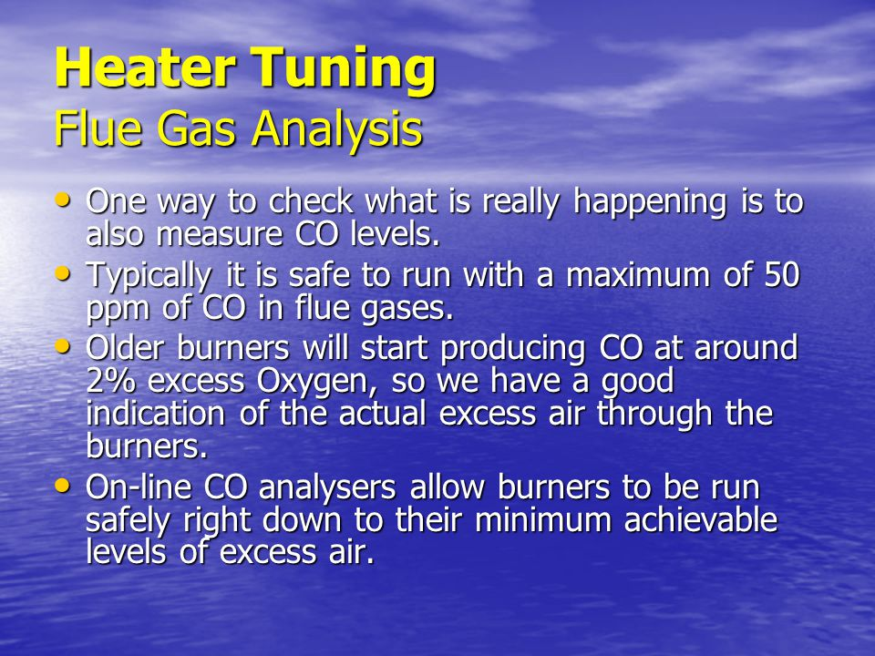 Heater Tuning Flue Gas Analysis
