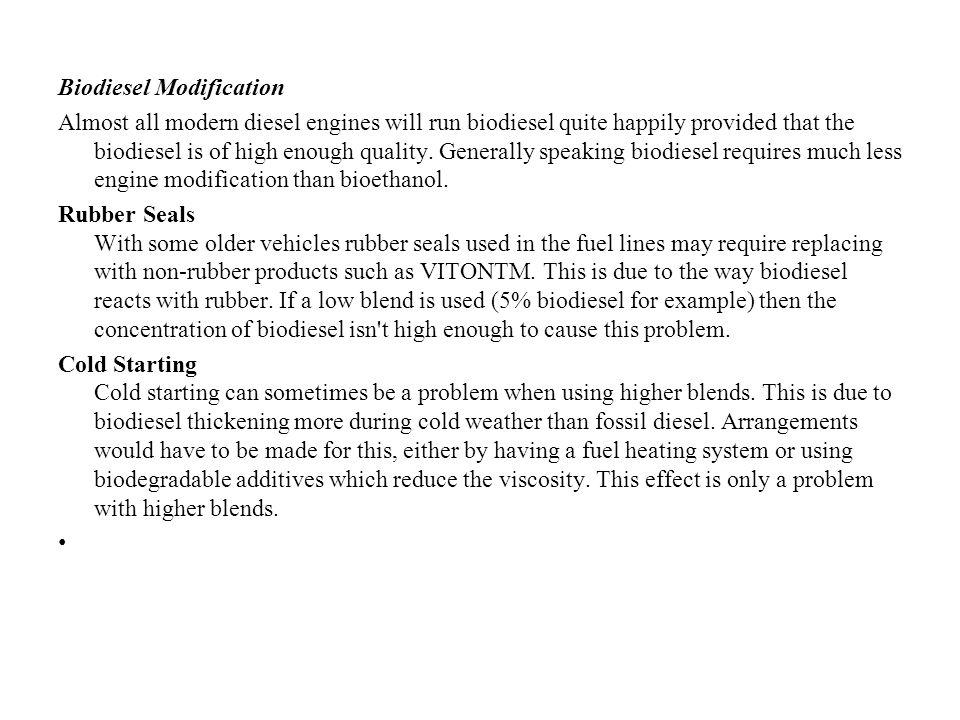 Biodiesel Modification