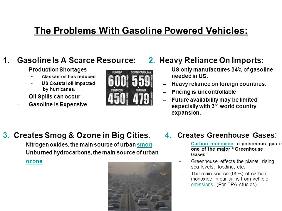 The Problems With Gasoline Powered Vehicles: