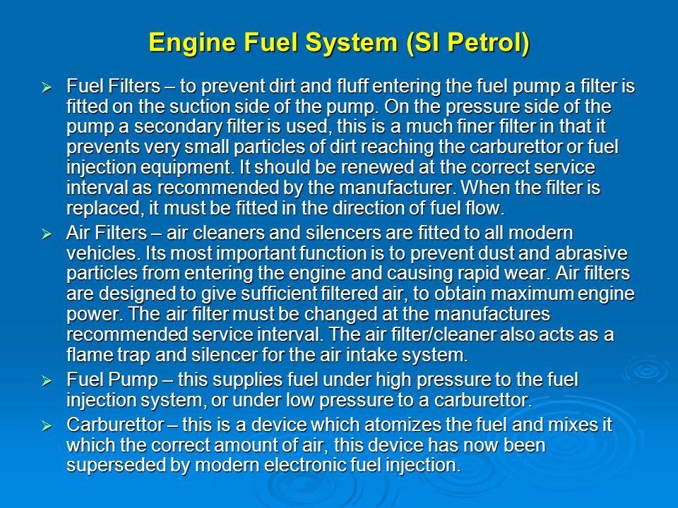Engine Fuel System (SI Petrol)