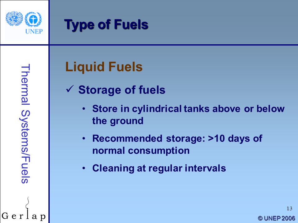 Thermal Systems/Fuels