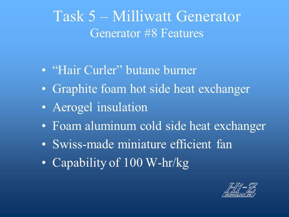 Task 5 – Milliwatt Generator Generator #8 Features