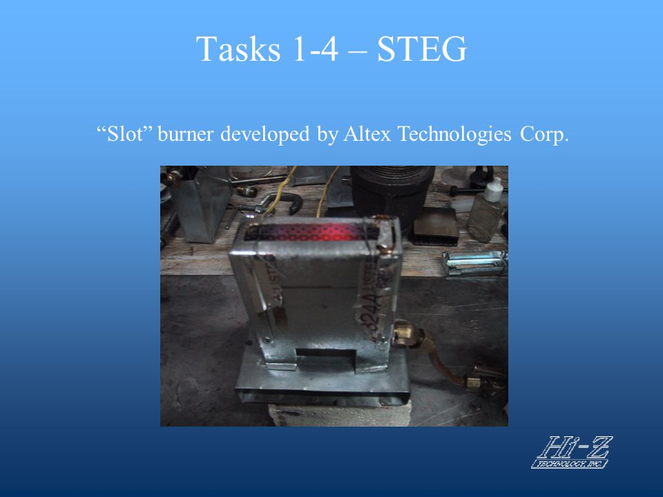 Slot burner developed by Altex Technologies Corp.