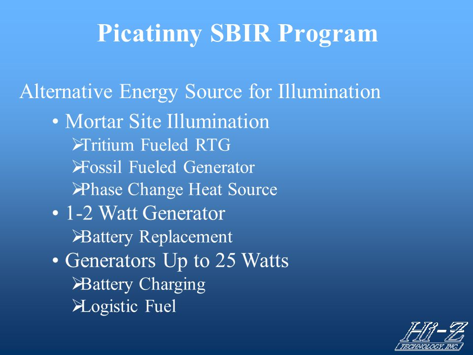 Picatinny SBIR Program