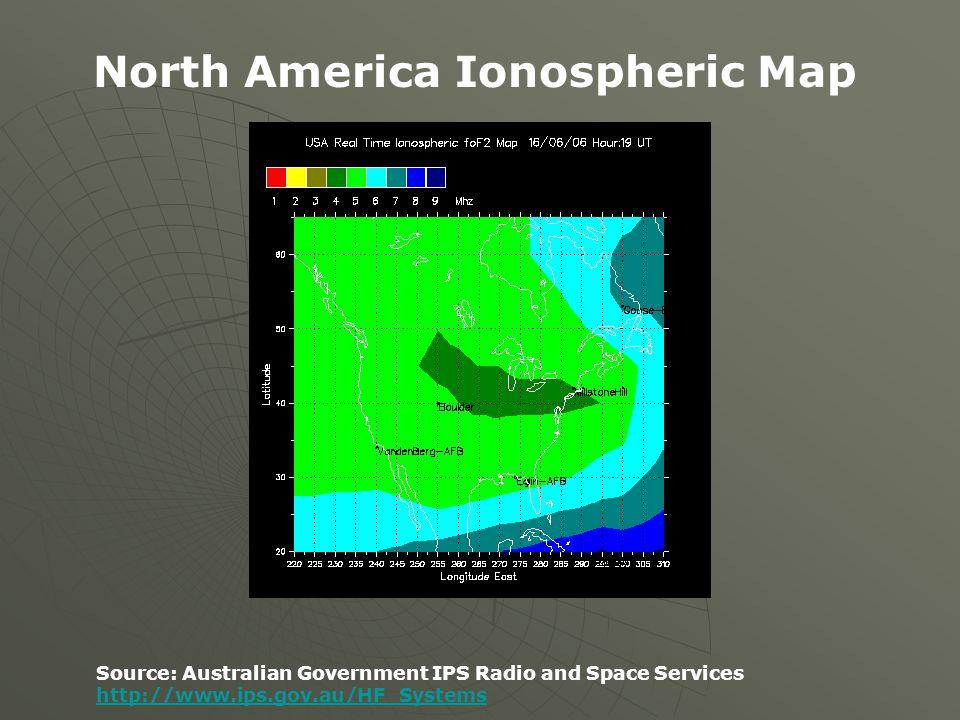 North America Ionospheric Map