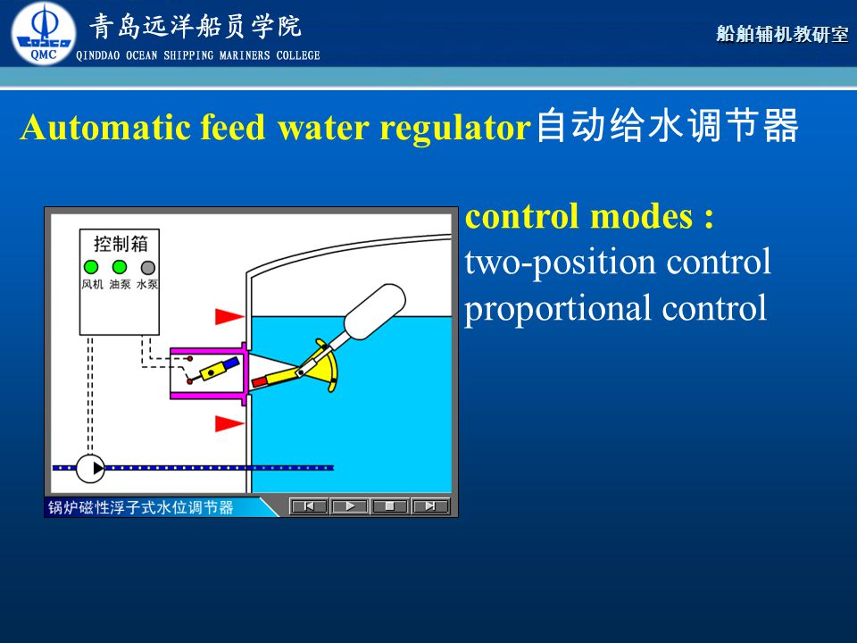 Automatic feed water regulator自动给水调节器
