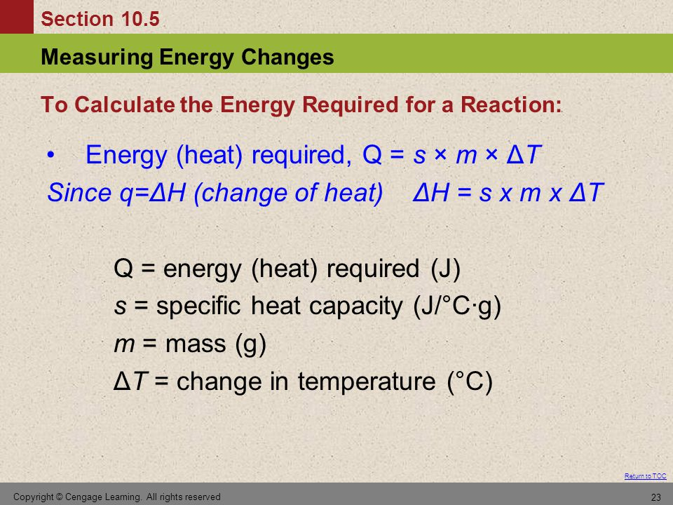 To Calculate the Energy Required for a Reaction: