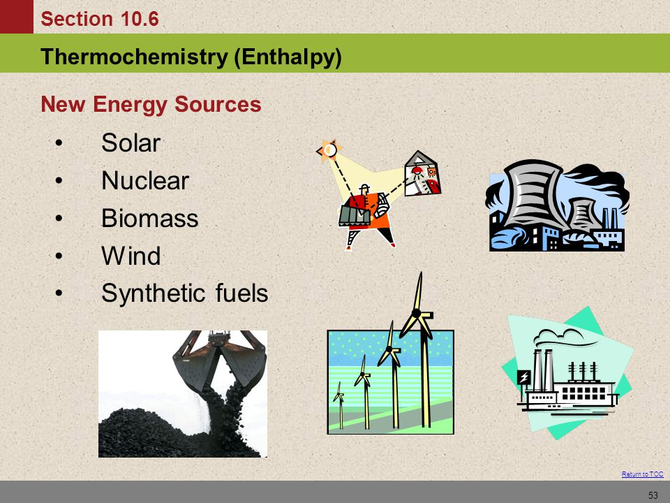 New Energy Sources Solar Nuclear Biomass Wind Synthetic fuels