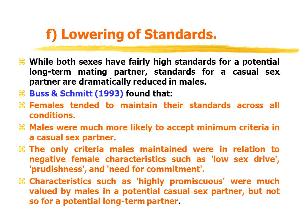 f) Lowering of Standards.