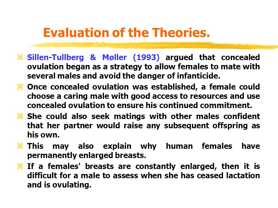 Evaluation of the Theories.