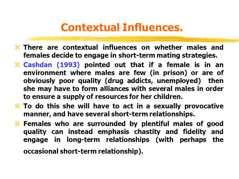 Contextual Influences.